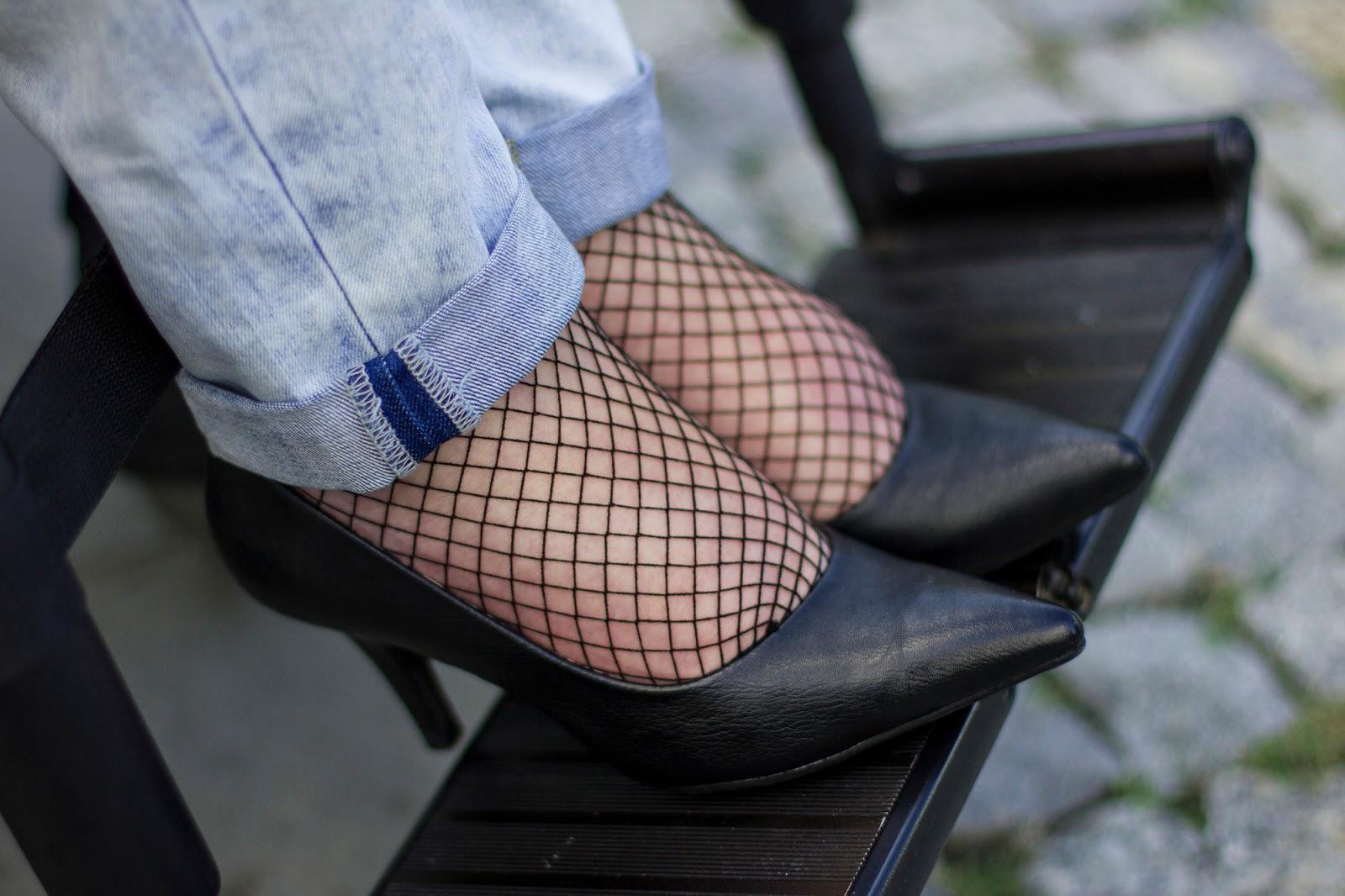 szpilki dżinsy kabaretki