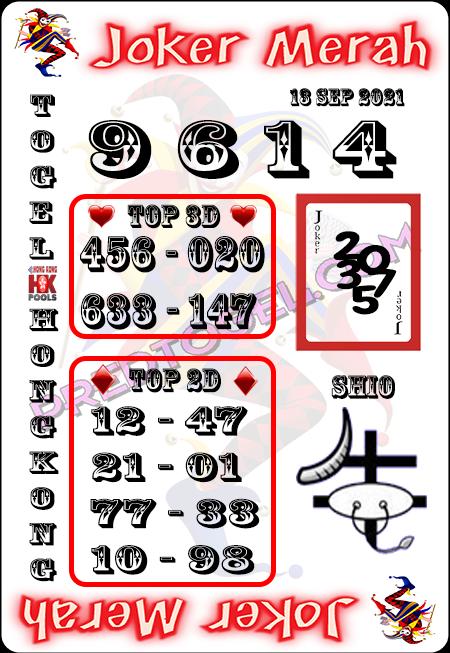 Prediksi Joker Merah Togel Hongkong Senin 13-Sep-2021