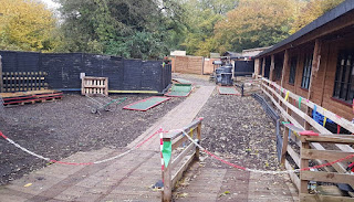 The Olde Watermill Crazy Golf course in Barton-Le-Clay. Photo by Simon Hall, November 2019