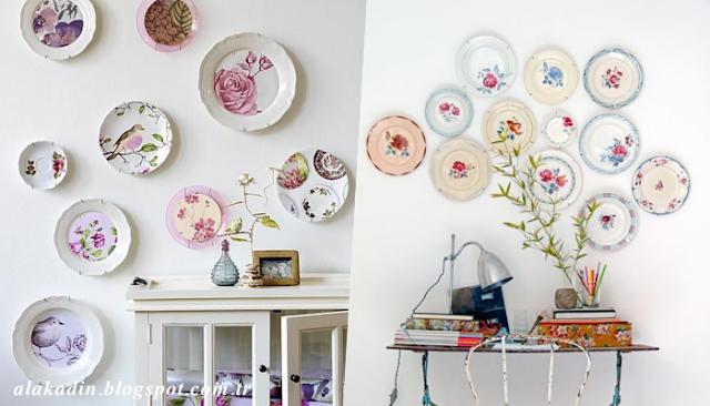 Duvarda tabak koleksiyonu