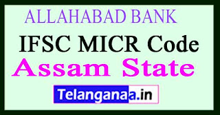 ALLAHABAD BANK IFSC MICR Code Assam State