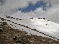 The final summit ridge on Mt. Massive