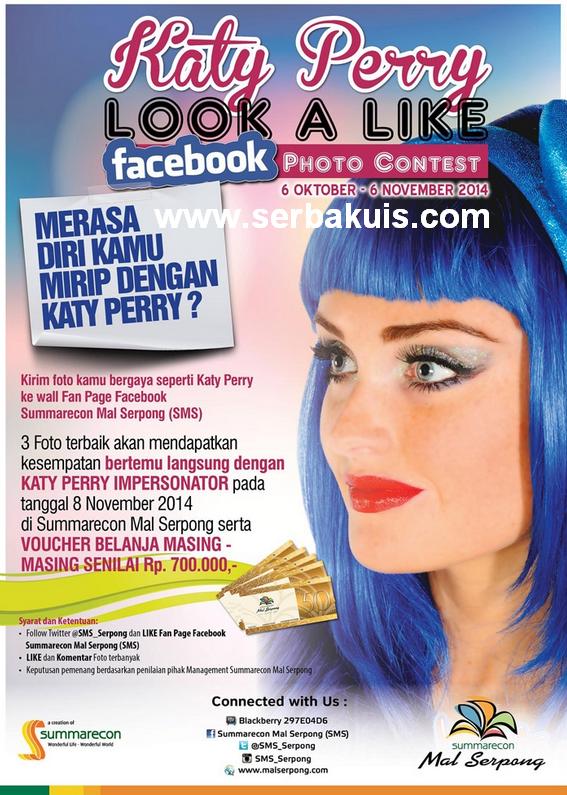Kontes Foto Berhadiah Ketemu Langsung Katy Perry Impersonator