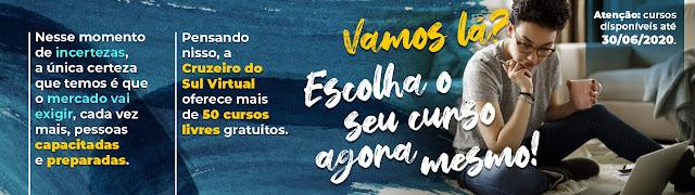 Cruzeiro do Sul liberou 49 cursos online gratuitos e você pode fazer durante a quarentena