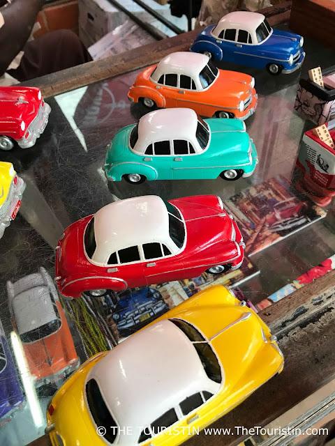calle obispo classic cars miniature havana vieja the touristin cuba