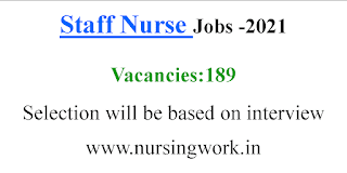 189 Staff Nurse Vacancies