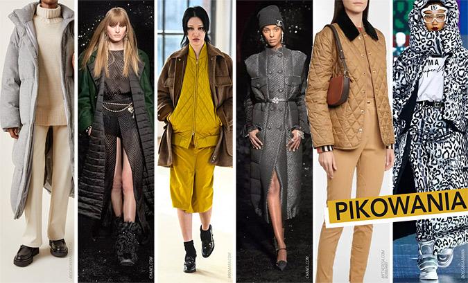 modne pikowane moda trendy jesień 2021