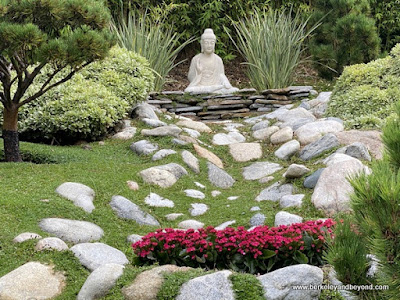 Buddha statue at Lake Shrine Meditation Gardens in Pacific Palisades, California