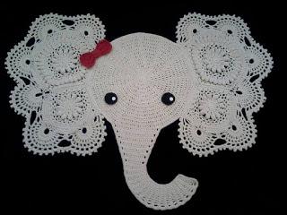 crochecomreceita pap para elefante em croche