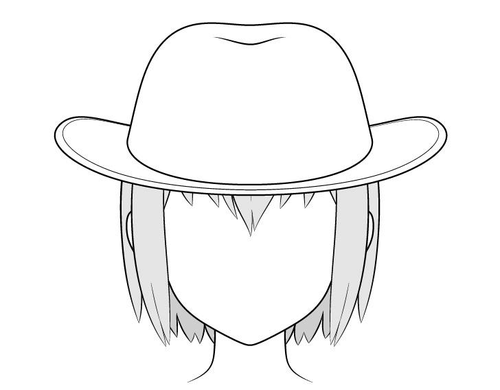 Gambar topi koboi anime