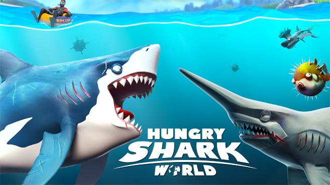 تحميل لعبة hungry shark world للكمبيوتر