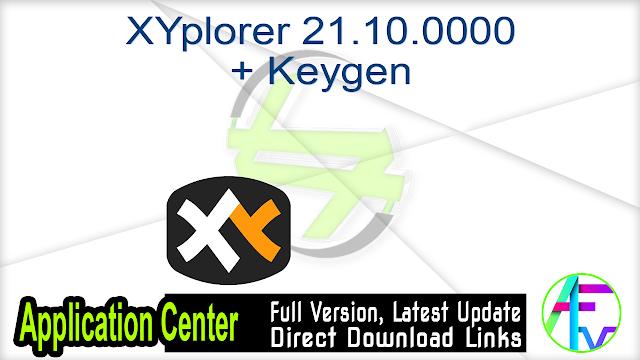 XYplorer 21.10.0000 + Keygen