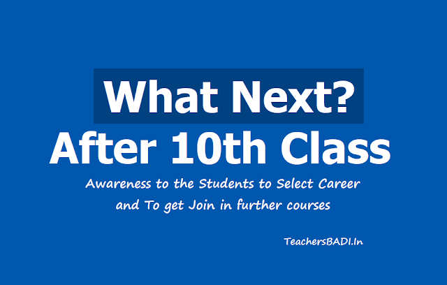 What Next? After 10th Class. Awareness to the Students to Select Career & To get Join in further courses
