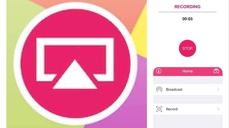 merekam layar iphone menggunakan aplikasi  AirShou screen recorder
