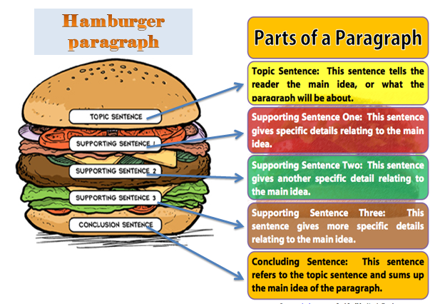 Hamburger paragraph writing activities