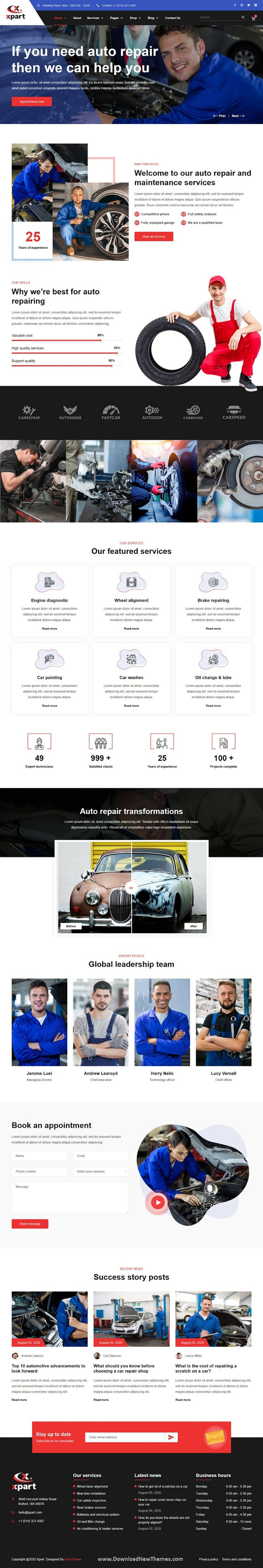 Automobile Repair & Services HTML Template