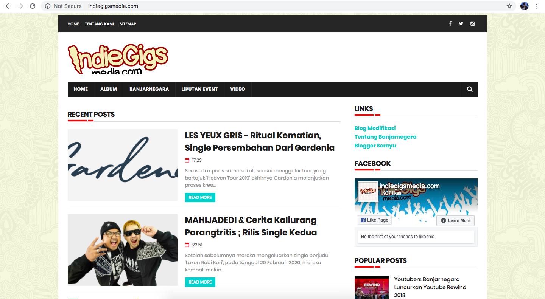 jasa pembuatan website banjarnegara - indiegigsmedia