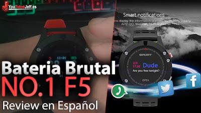 NO.1 F5 Smart Watch IP67 uno de los mejores relojes inteligentes que puedes llevar, reloj especial para deportistas.