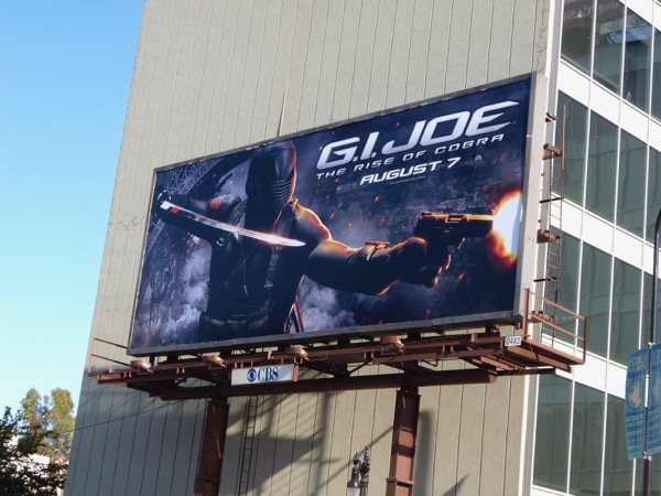 GI Joe The Rise of Cobra movie billboard