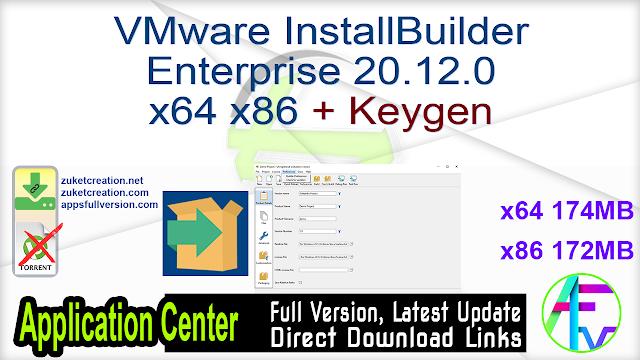 VMware InstallBuilder Enterprise 20.12.0 x64 x86 + Keygen