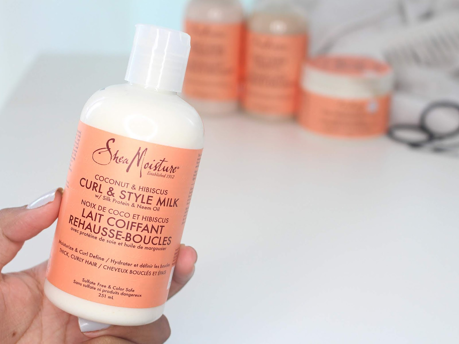 Shea Moisture Coconut and Hibiscus Style Milk
