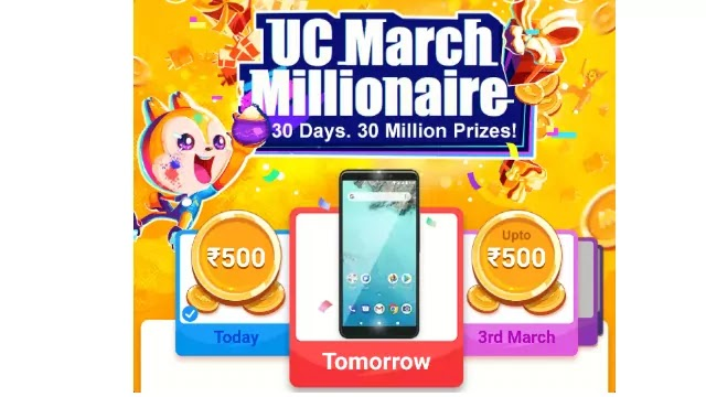 UC Browser March Millionaire Loot – ₹5000 Amazon Voucher + ₹35 Paytm Voucher
