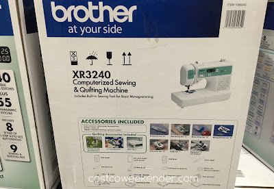 Costco 1088242 - Brother XR3240 Computerized Sewing Machine - a sewing machine even your grandmother can use