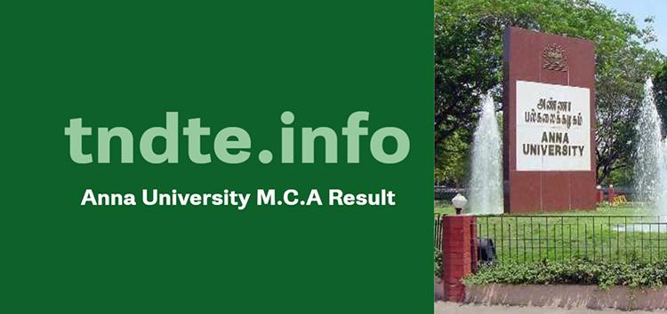 Anna University M.C.A Result 2020