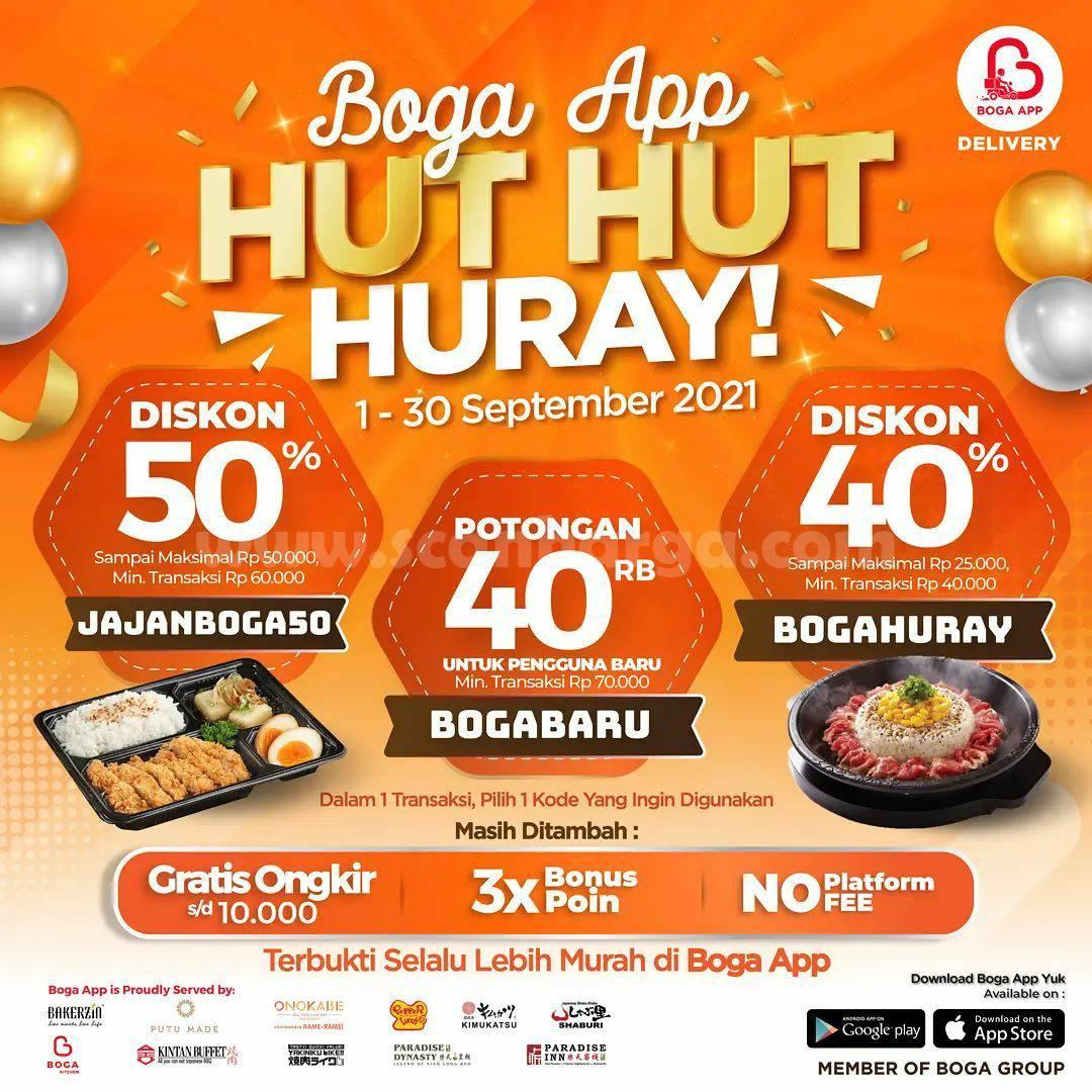 Promo Boga App Hut Hut Huray Periode 1 - 30 September 2021