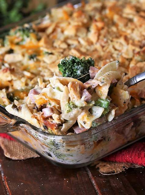 Cheesy Ham & Broccoli Casserole Image