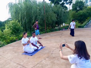 Dr. Das Bikashkali, First India-China (Kunming) International Day of Yoga Event