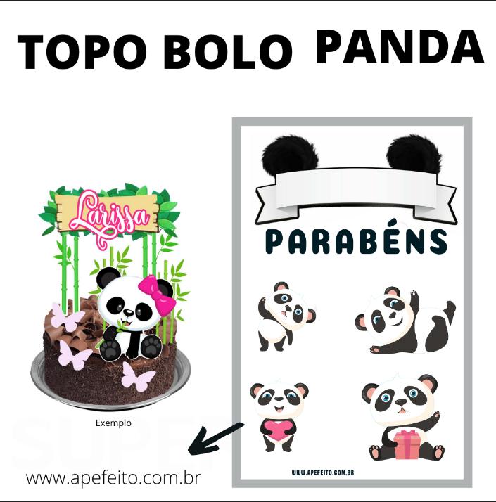 TOPPER DE BOLO PANDA PARA IMPRIMIR