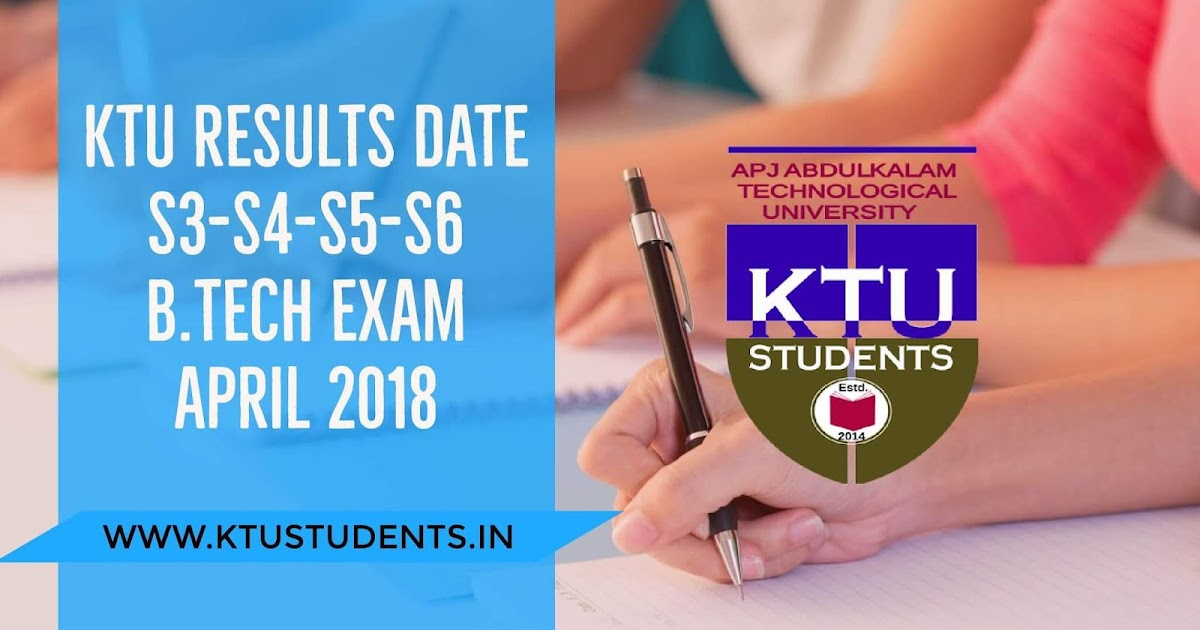 KTU S4-S6 Regular Exams and S3-S5 Supply Exams Results Date