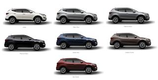 pilihan warna Hyundai Santa Fe