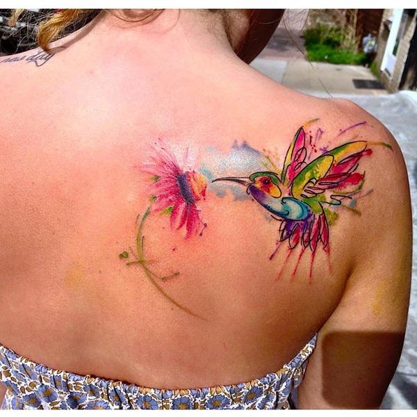 40 incríveis tatuagens em aquarela!