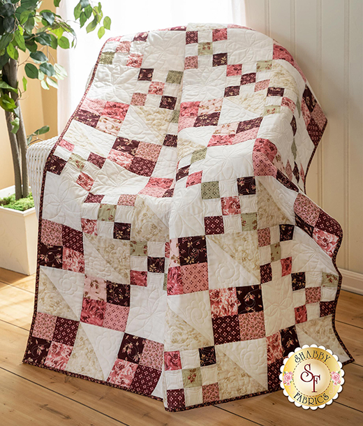 Cross Pod-inate Quilt designed by Jen of Shabby Fabrics