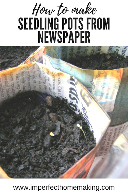How to make biodegradable seedling pots for free from old newspapers