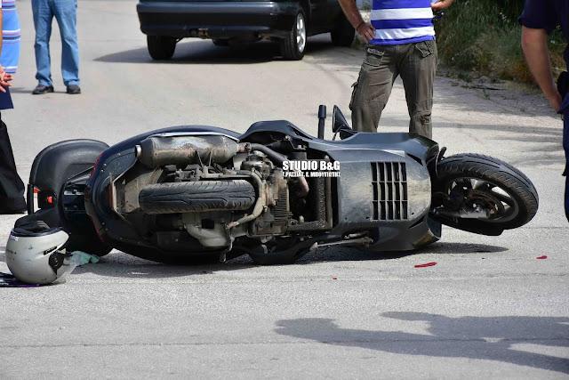 Τροχαίο με μηχανάκι στο Ναύπλιο - Τραυματίας ο οδηγός