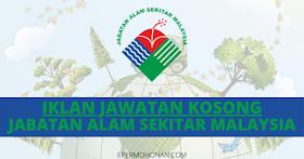 Jawatan Kosong Personel MyStep Di Jabatan Alam Sekitar Malaysia~Mohon Segera
