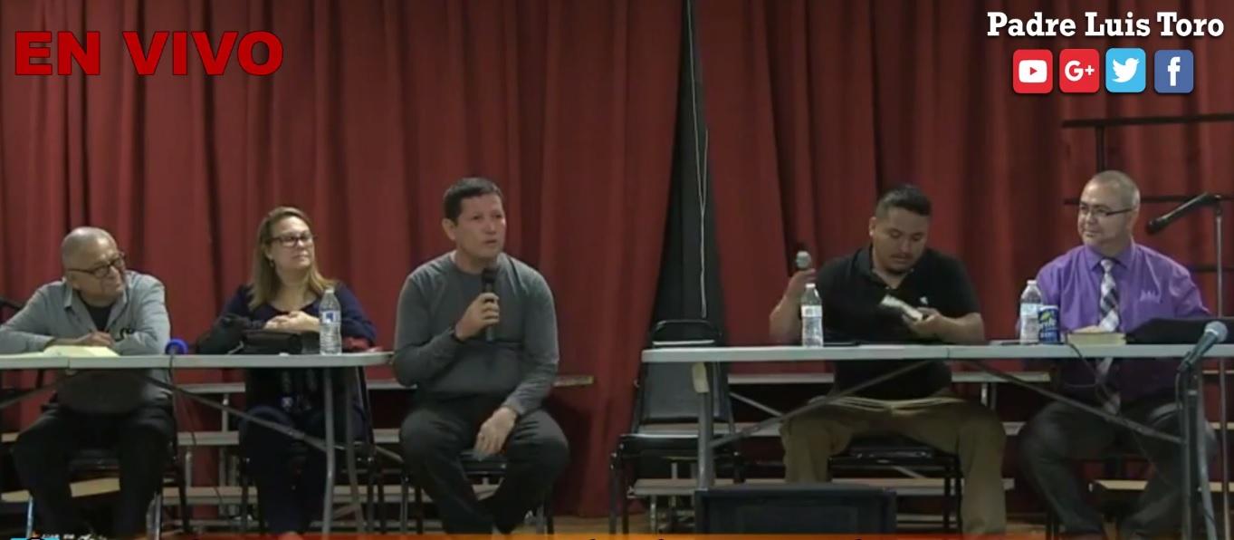 Debate entre el padre Luis Toro y el pastor Eduardo Gutierrez
