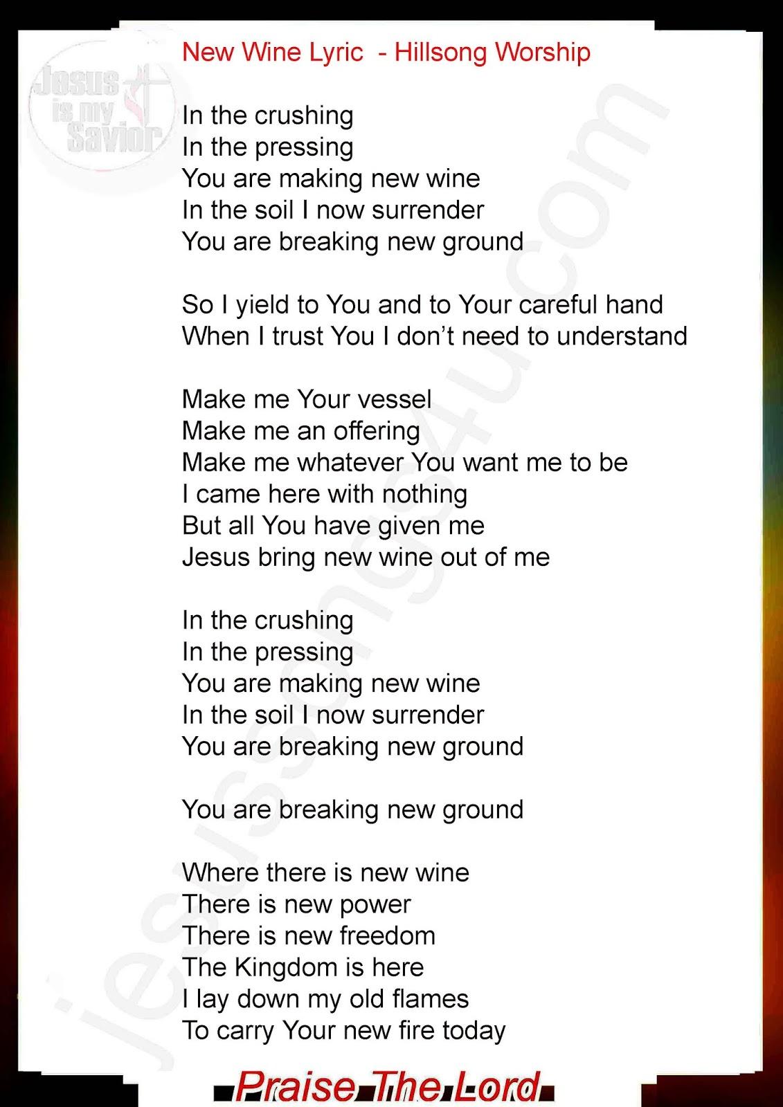 Hillsong lyrics i surrender