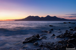 Fading light over Rum