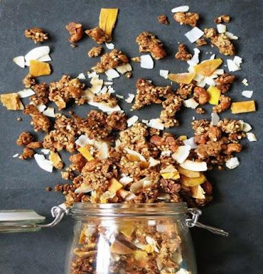 Crunchy Mango & Cardamom Granola