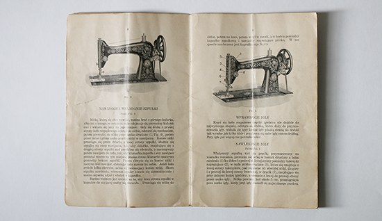 1915 Singer Treadle Sewing Machine Instruction Book in Polish