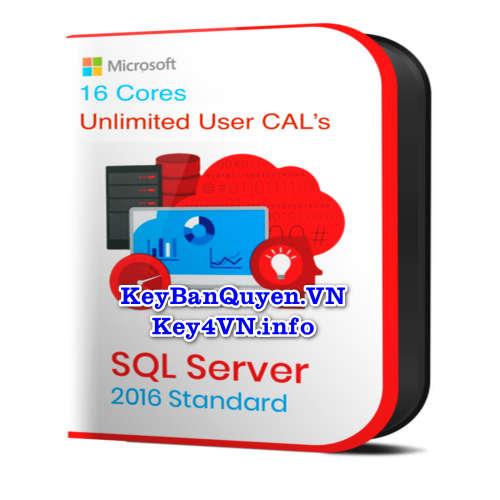 Mua bán key bản quyền SQL Server 2016 Standard 64 Bit.