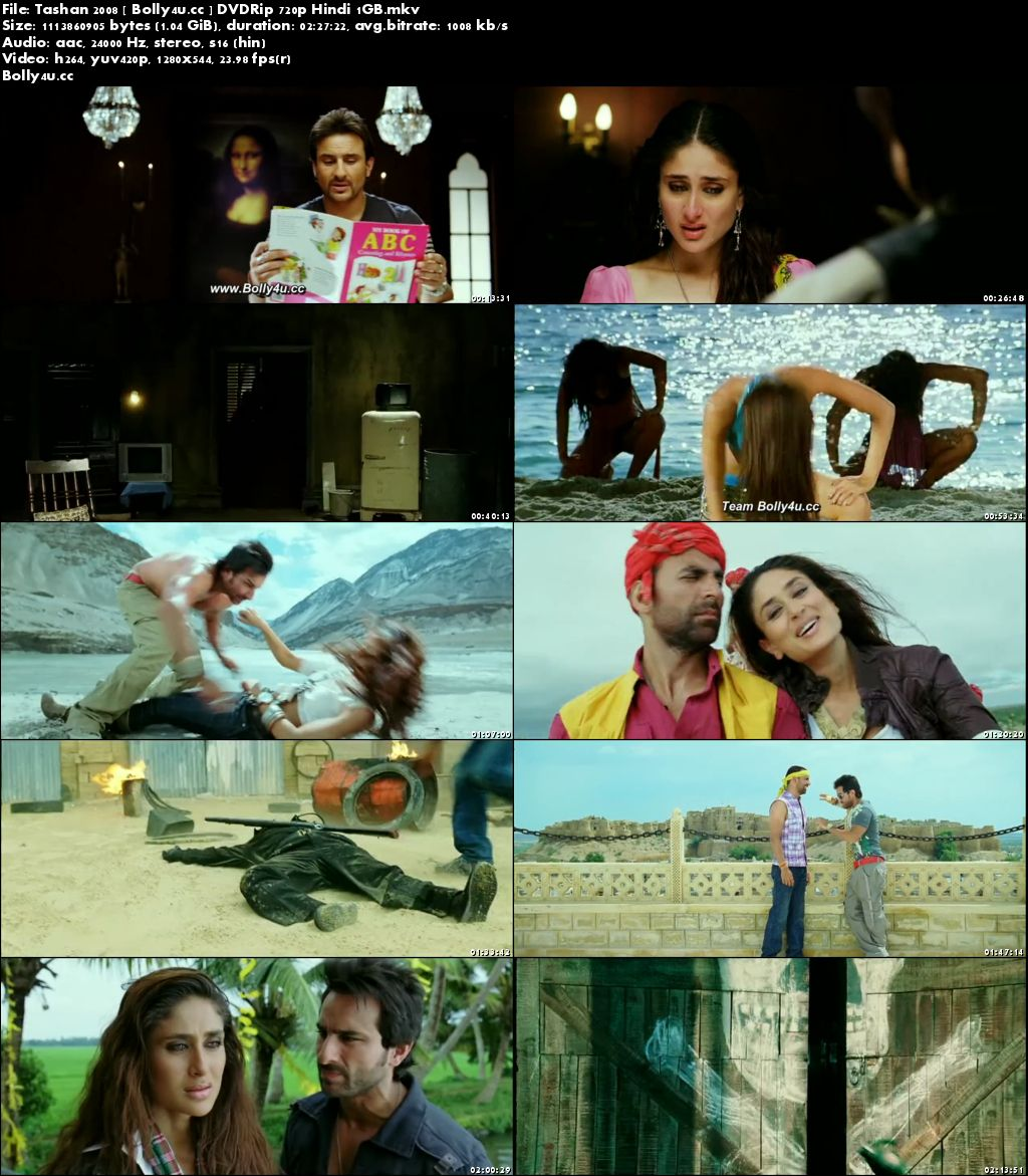 Tashan 2008 DVDRip 1Gb Full Hindi Movie Download 720p