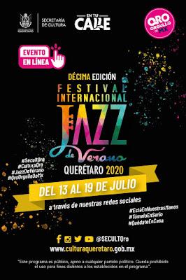 El Décimo Festival Internacional Jazz de Verano se llevará a cabo de forma virtual