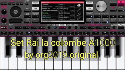 Set Rai la colombe A1000 by Android org2019 original