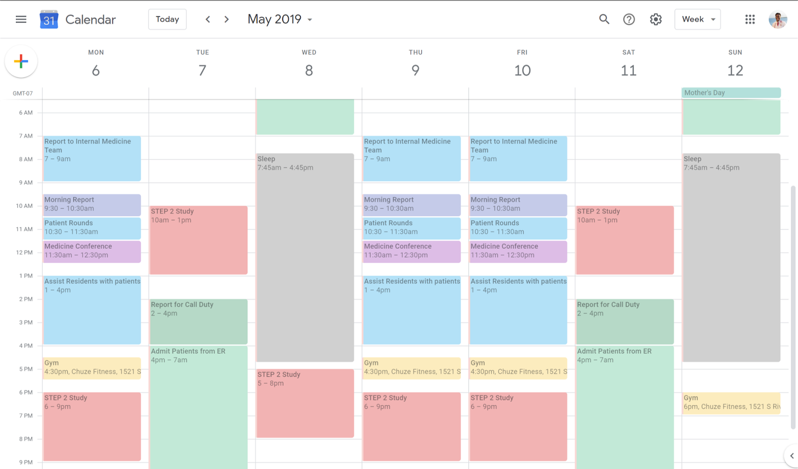 My Typical Week as a 3rd Year Med Student for Internal