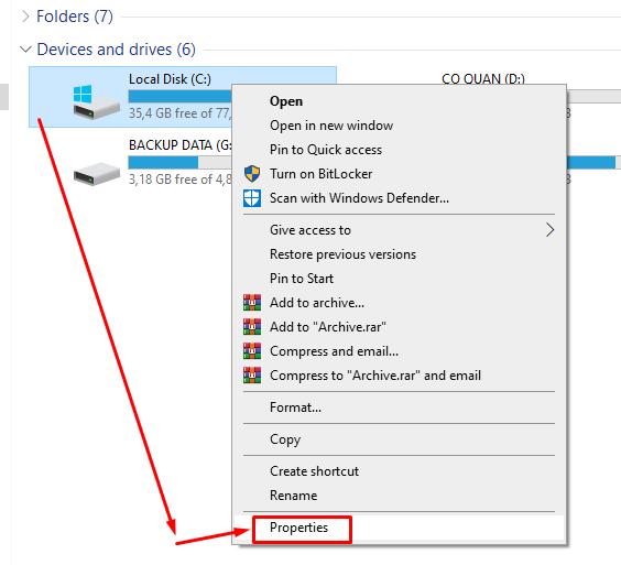 Cách dọn rác, tăng tốc độ máy tính Windows 10 đơn giản Disk Cleanup